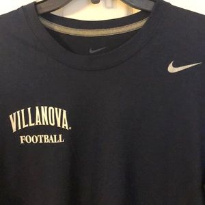 Men's Nike Villanova Football Dry Fit t shirt